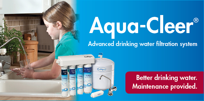 Aqua Cller advanced drinking water filtration system. Better drinking water. Maintenance provided.